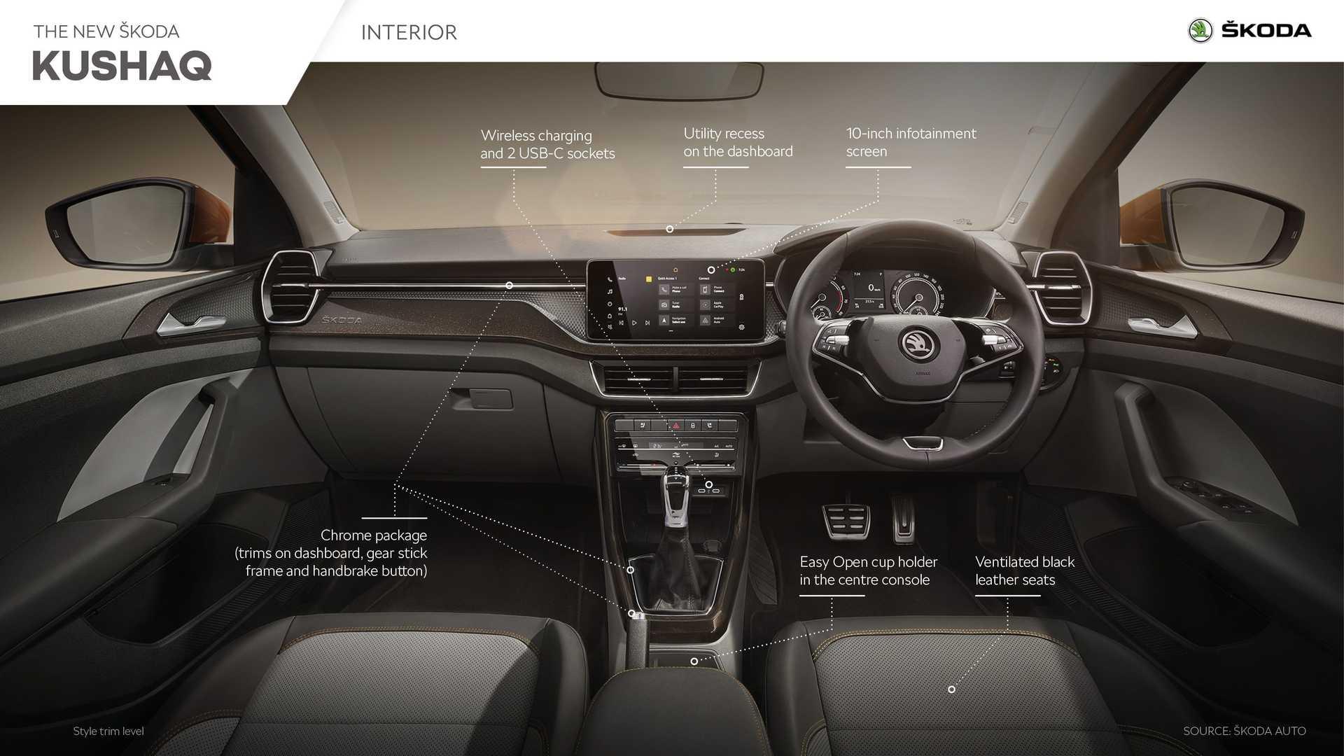 2021 skoda kushaq key features and interior