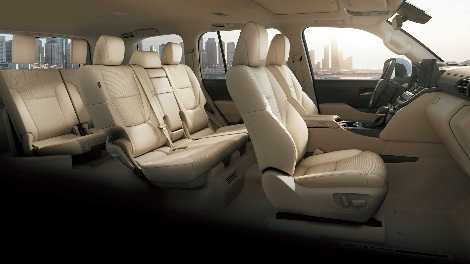 New Toyota Land Cruiser 300 Interior seating