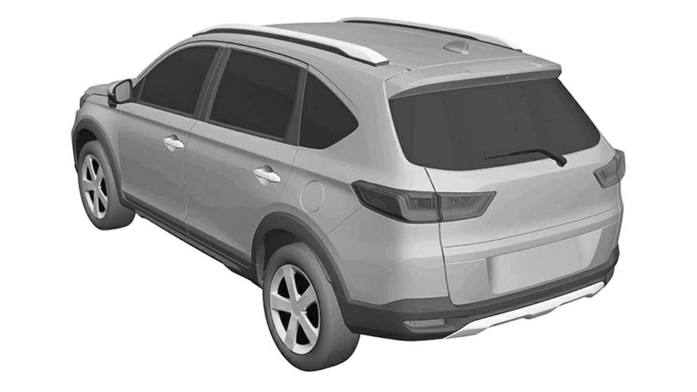 7 seat honda n7x new BR-V suv exterior rear view