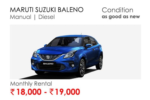 baleno car available for subscription online in india