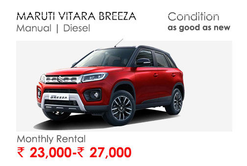 brezza car available for subscription online in india
