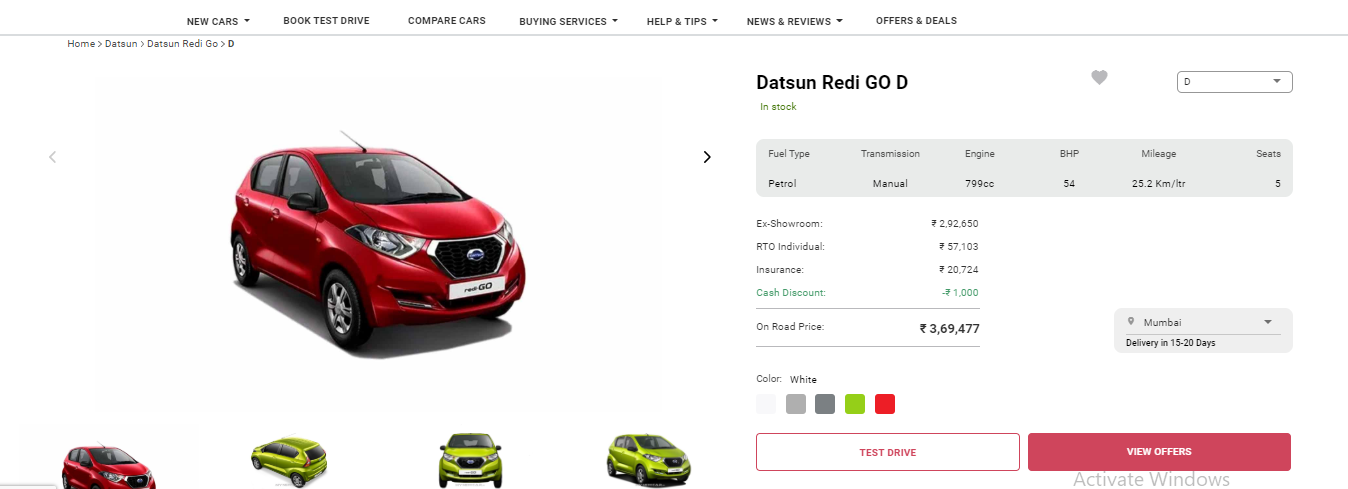 how to book car online in india