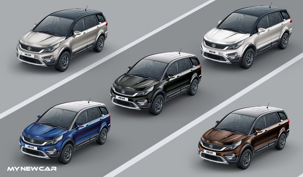 Tata Hexa Colours