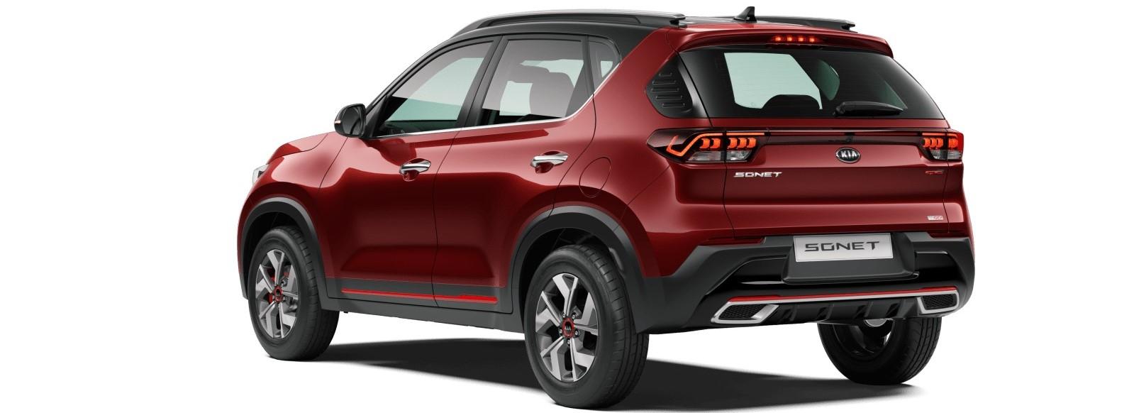 kia-sonet-red-rear-design