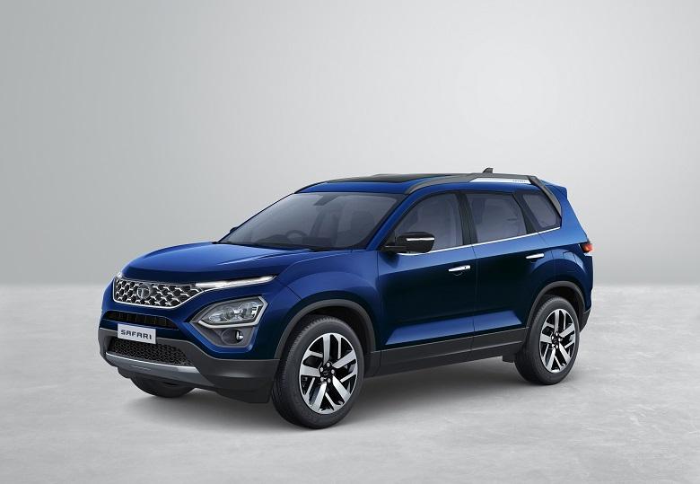 New-2021-Tata-Safari-Front-Blue-Exterior-Image-Gallery