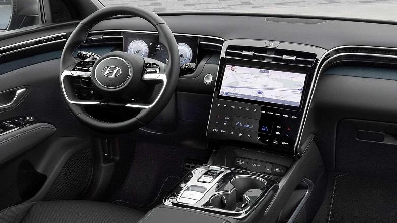 new hyundai tucson interior infotainment dashboard