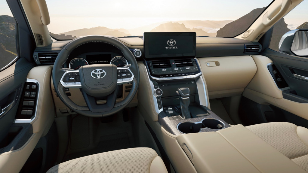 New Toyota Land Cruiser 300 Interior front cabin view