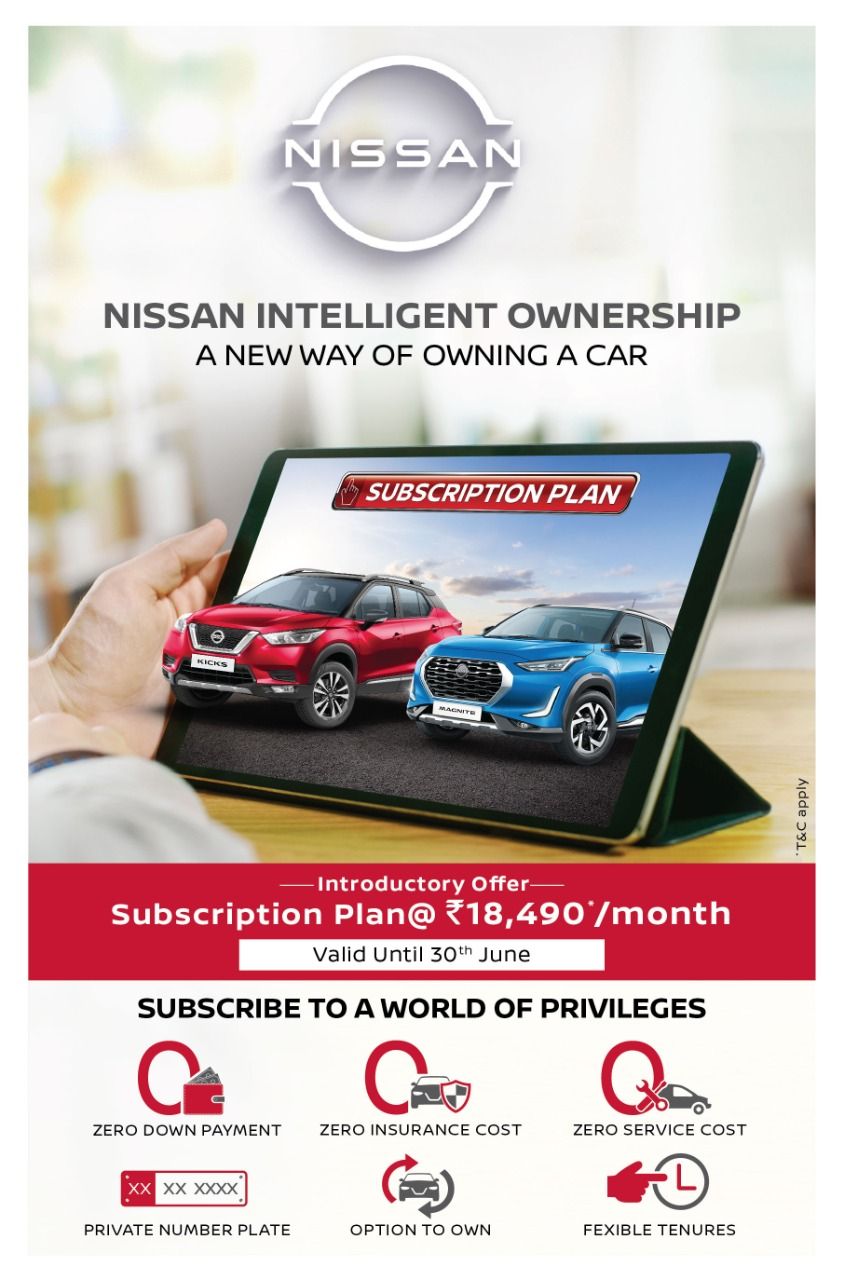 Nissan India Car Subscription Intelligent Ownership