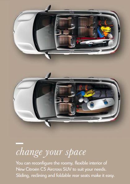 citroen-C5-aircross-flexible-rear-seat-sliding-recling-foldable