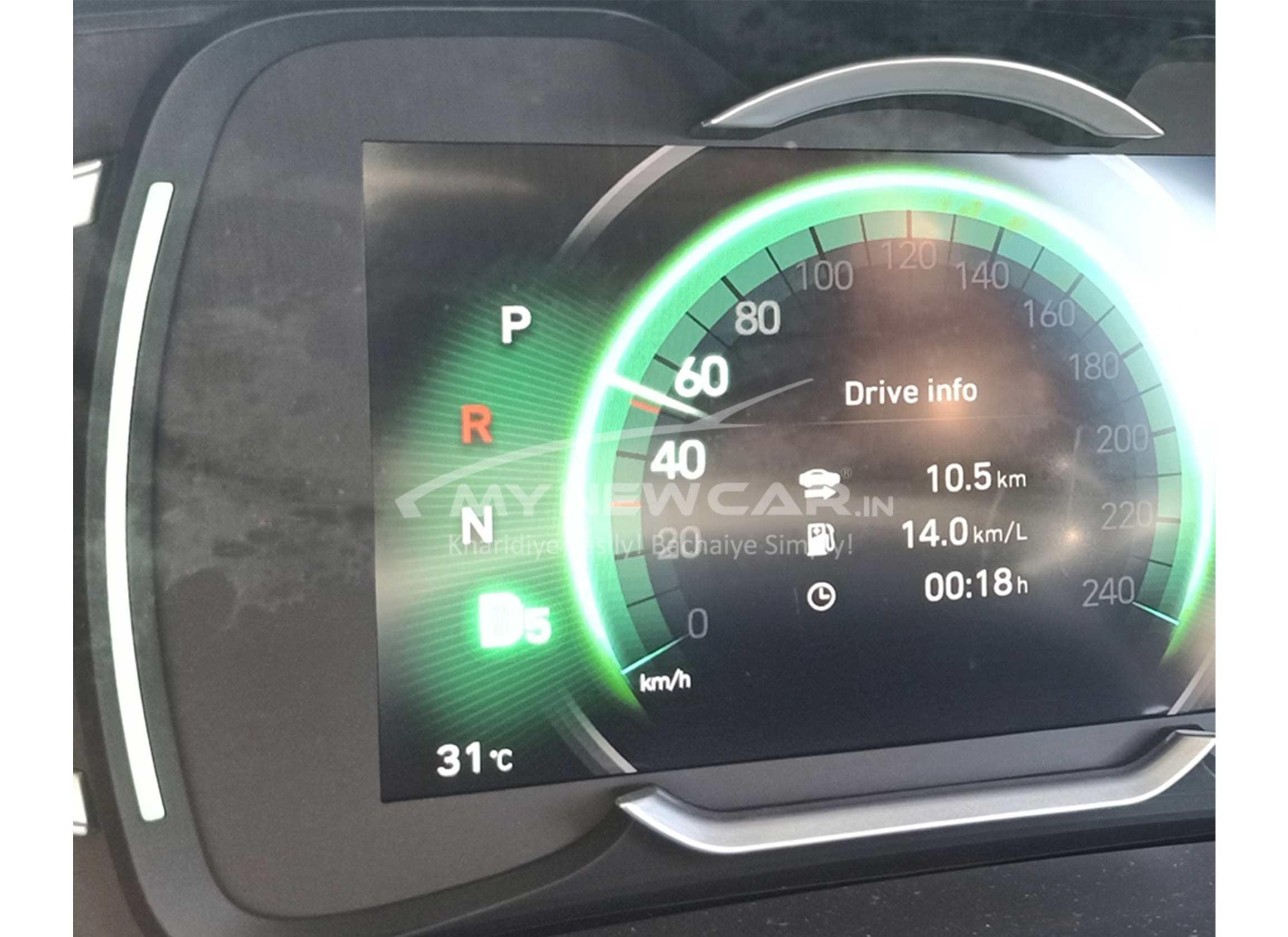 new hyundai creta turbo petrol speedometer image
