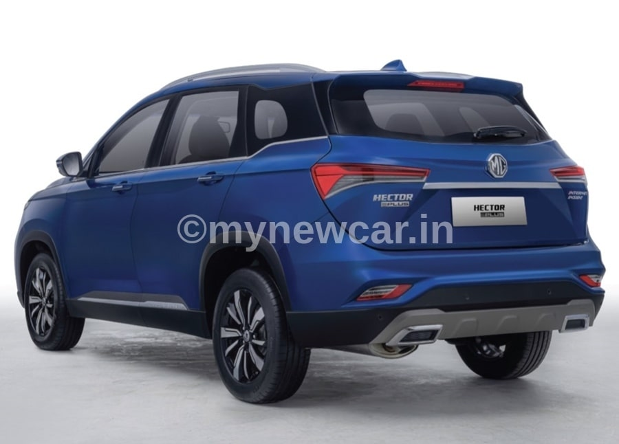 mg hector plus rear image