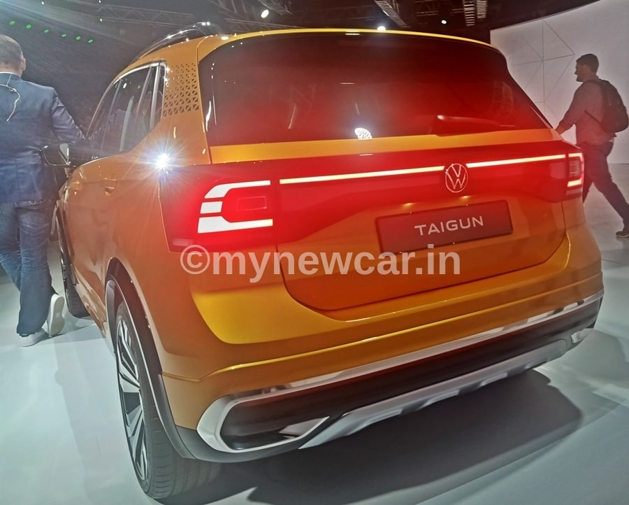vw taigun suv backside look