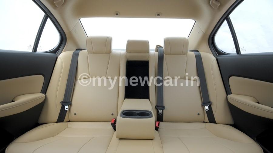 new honda city 2020 rear seat review