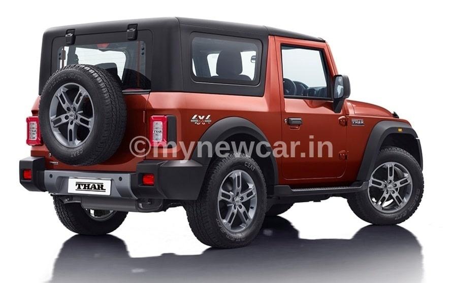 new mahindra thar rear 2020