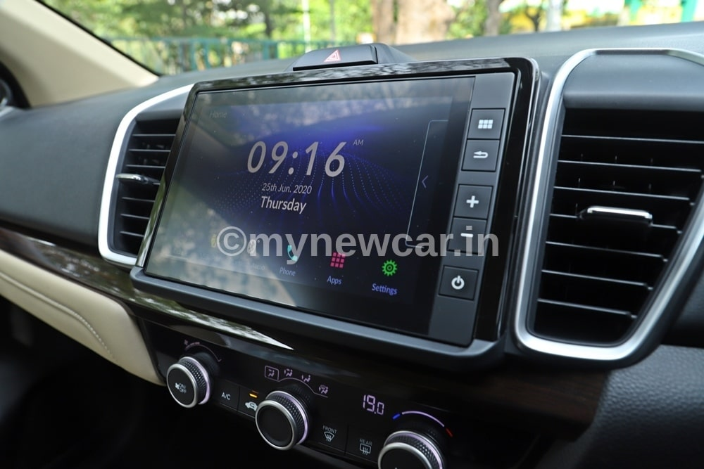 new honda city infotainment feature