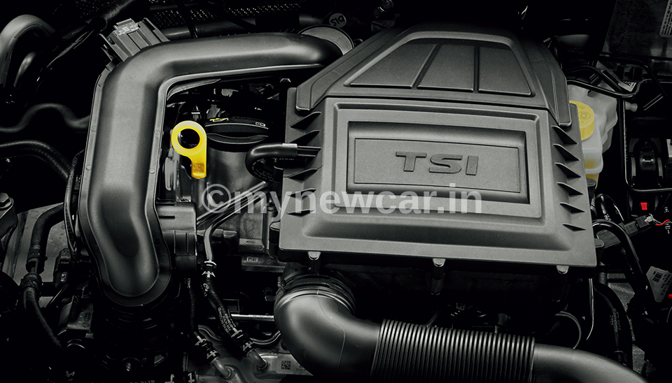 Skoda Rapid TSI engine image