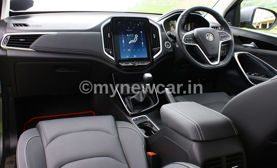 mg hector plus interior picture