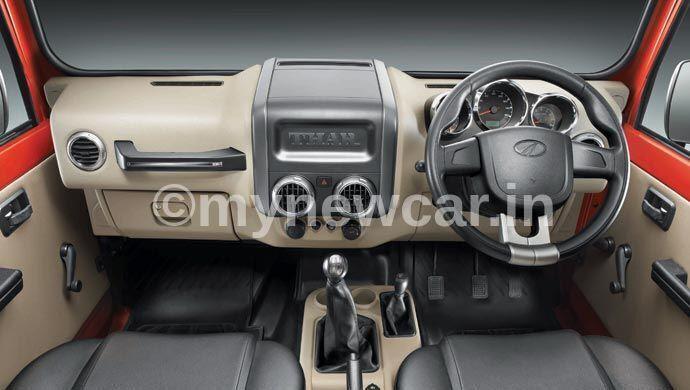 new mahindra thar 2020 interior image