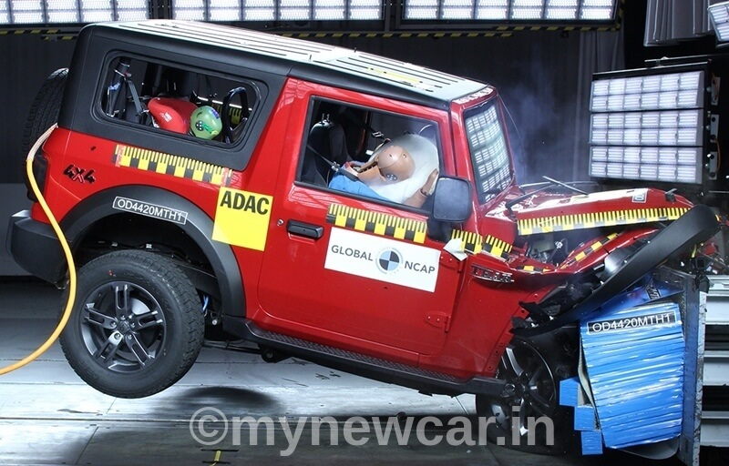 New Mahindra Thar Crash Test