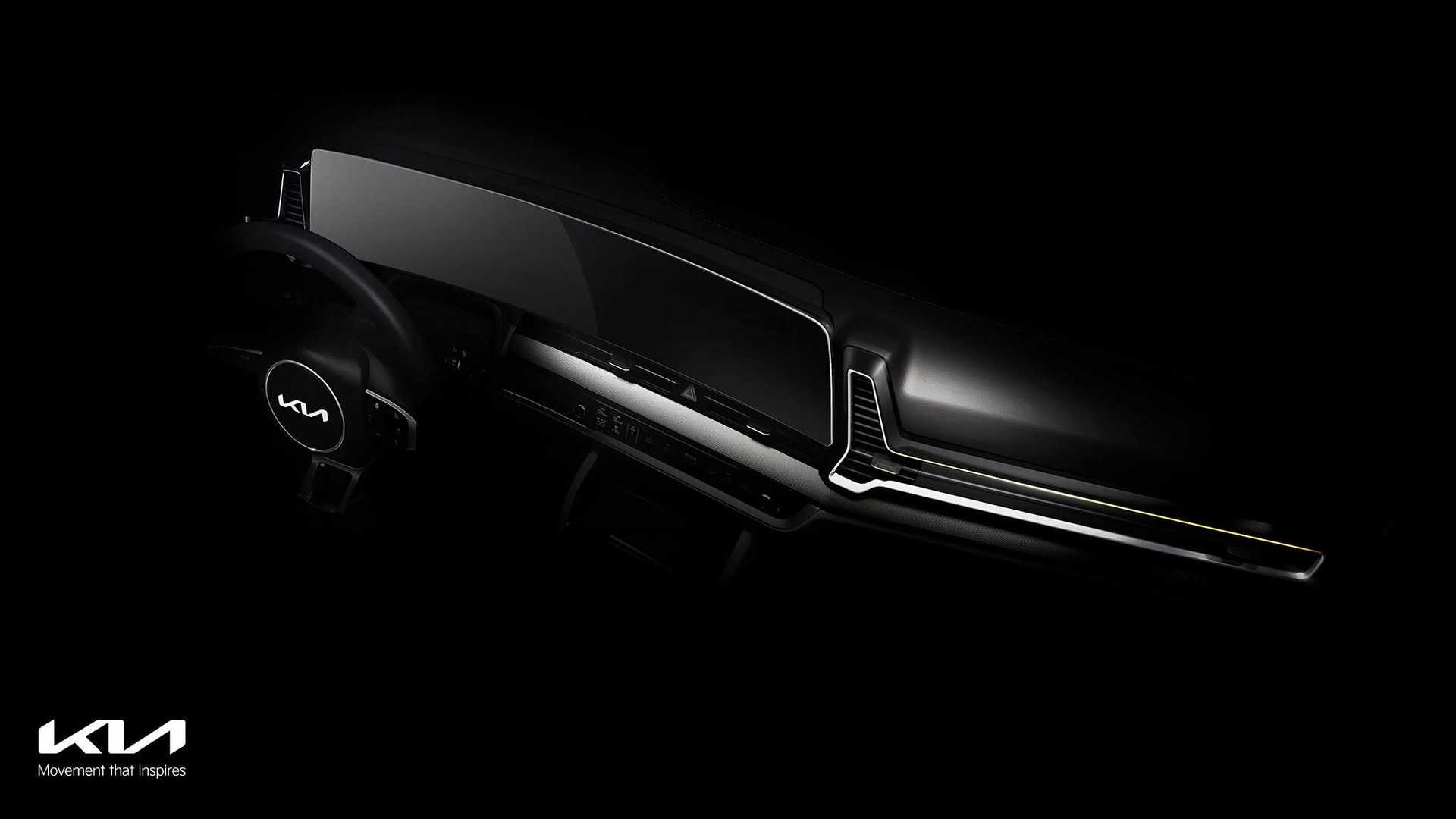 5th gen 2022 new kia sportage interior teaser