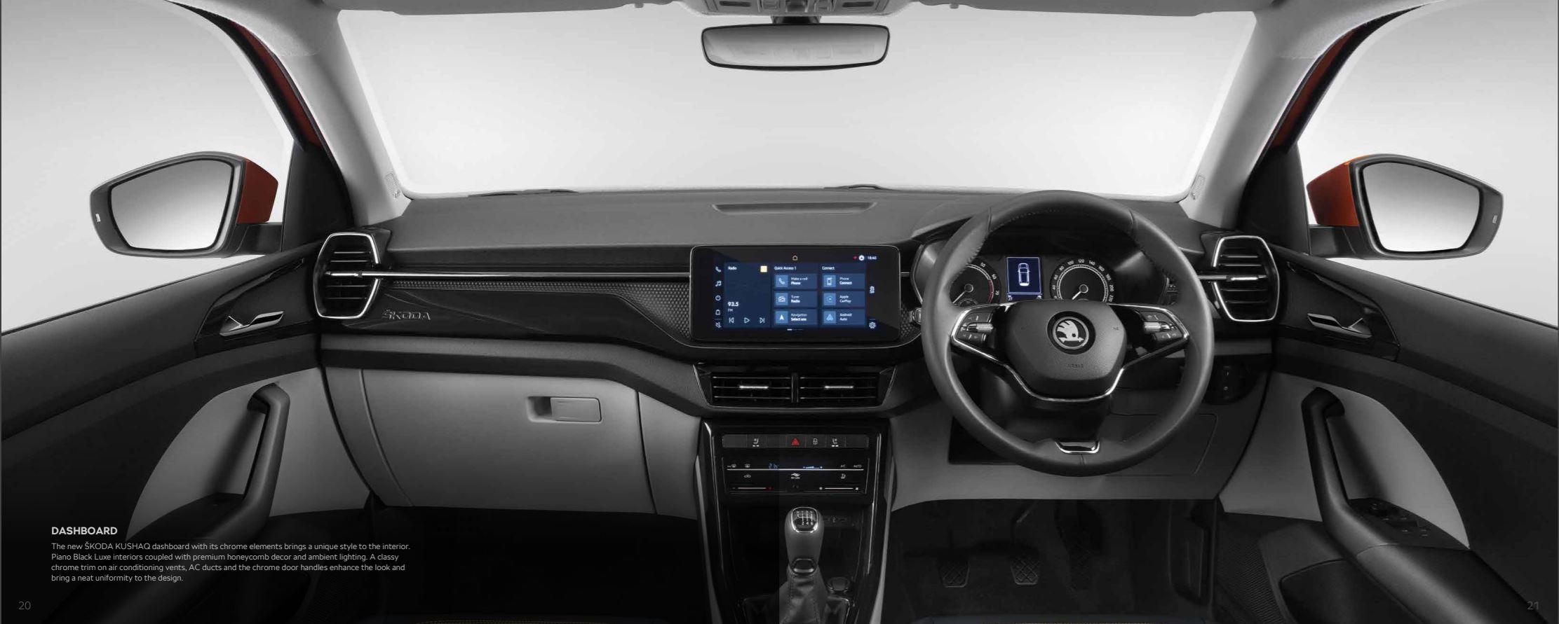2021 Skoda Kushaq Brochure -  Interior Dashboard