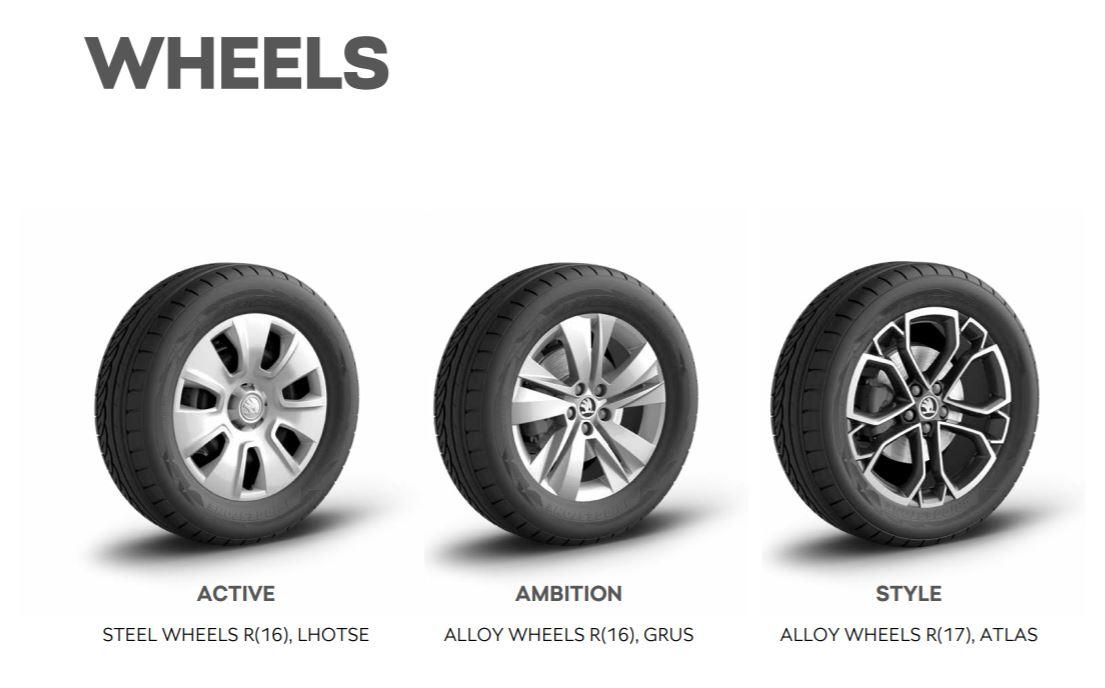 2021 Skoda Kushaq Brochure - Wheel Options