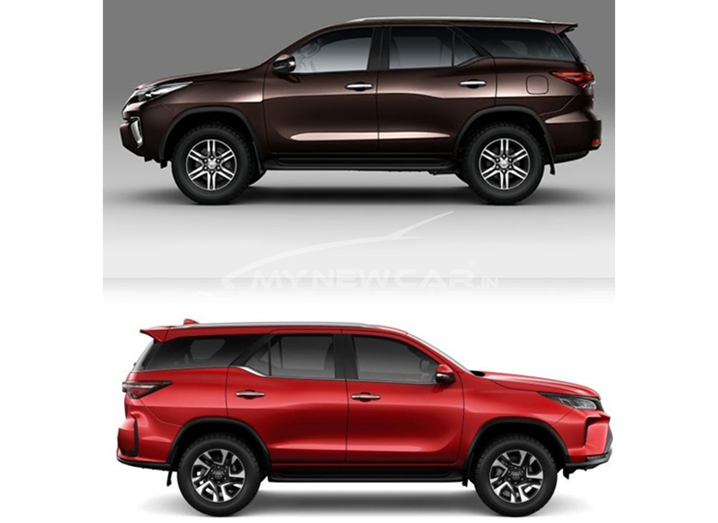 Fortuner - new vs old exterior image