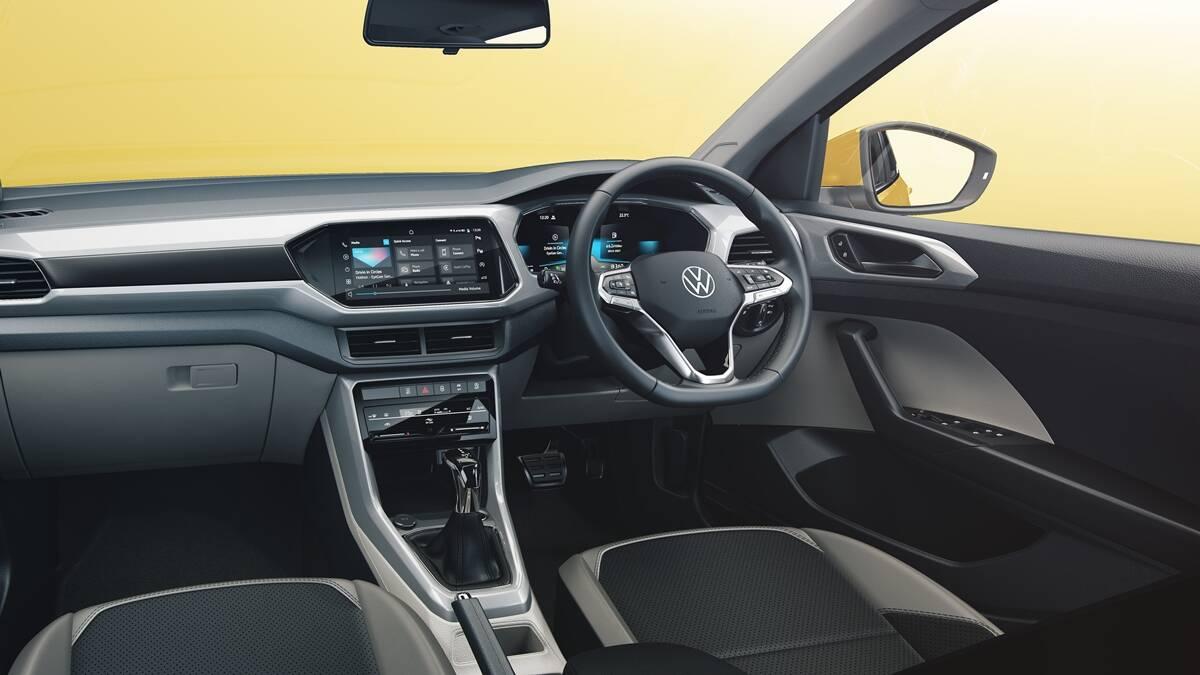 volkswagen taigun interior cabin design