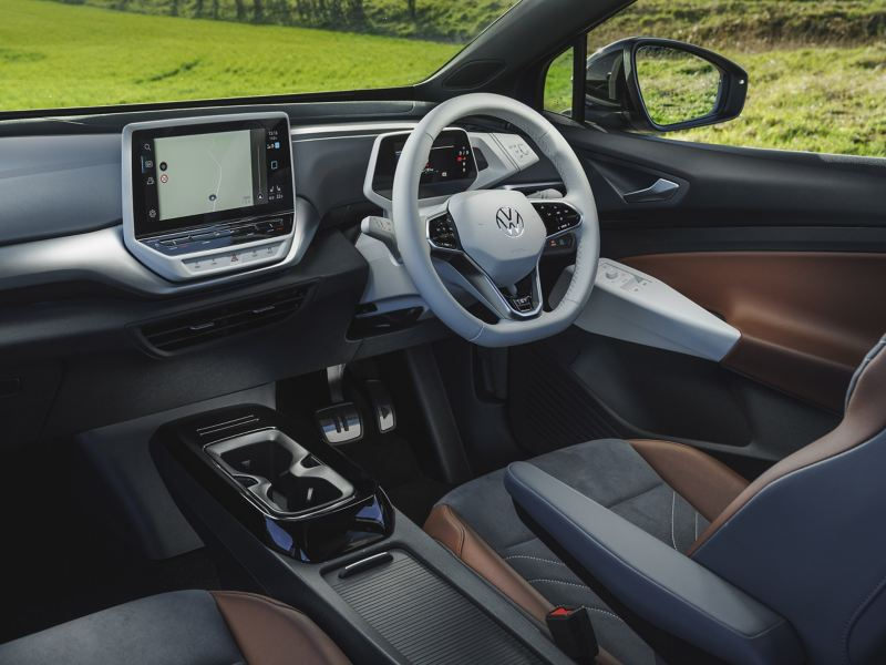 volkswagen electric car id4 interior front