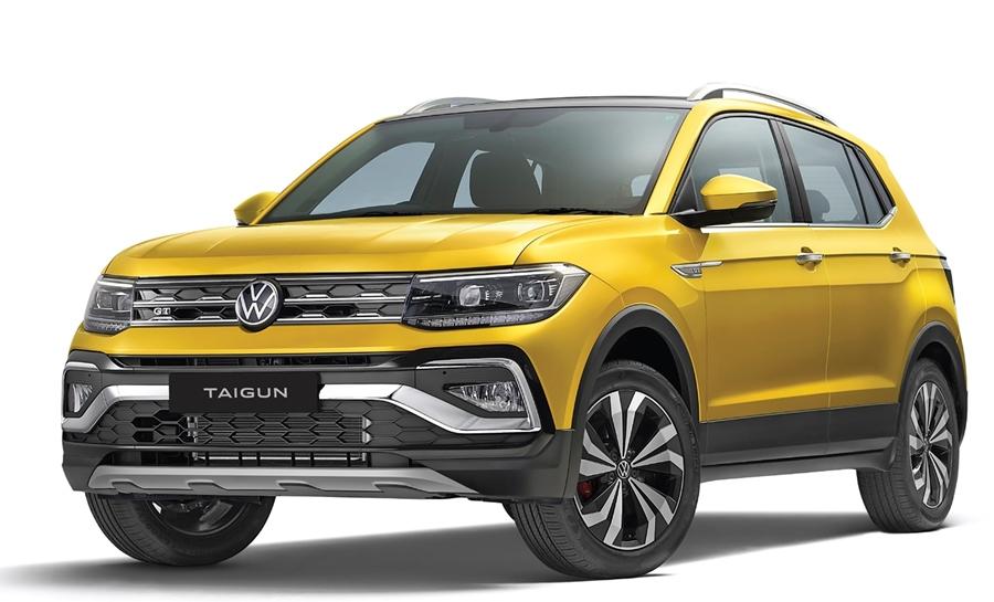 volkswagen taigun exterior kurkuma yellow suv india