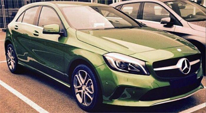 Mercedes A-class facelift seen undisguised
