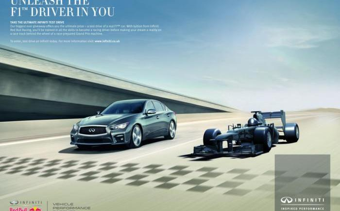 Infiniti offering potential customers a chance to drive an F1 car