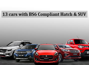 BS6 Compliant Hatchbacks, SUV launched till October 2019