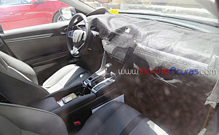 2016 Honda Civic spotted with heated rear seats