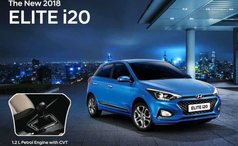 Hyundai Elite i20 CVT launched in India