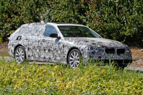 2017 BMW 5 series estate spied testing in Germany