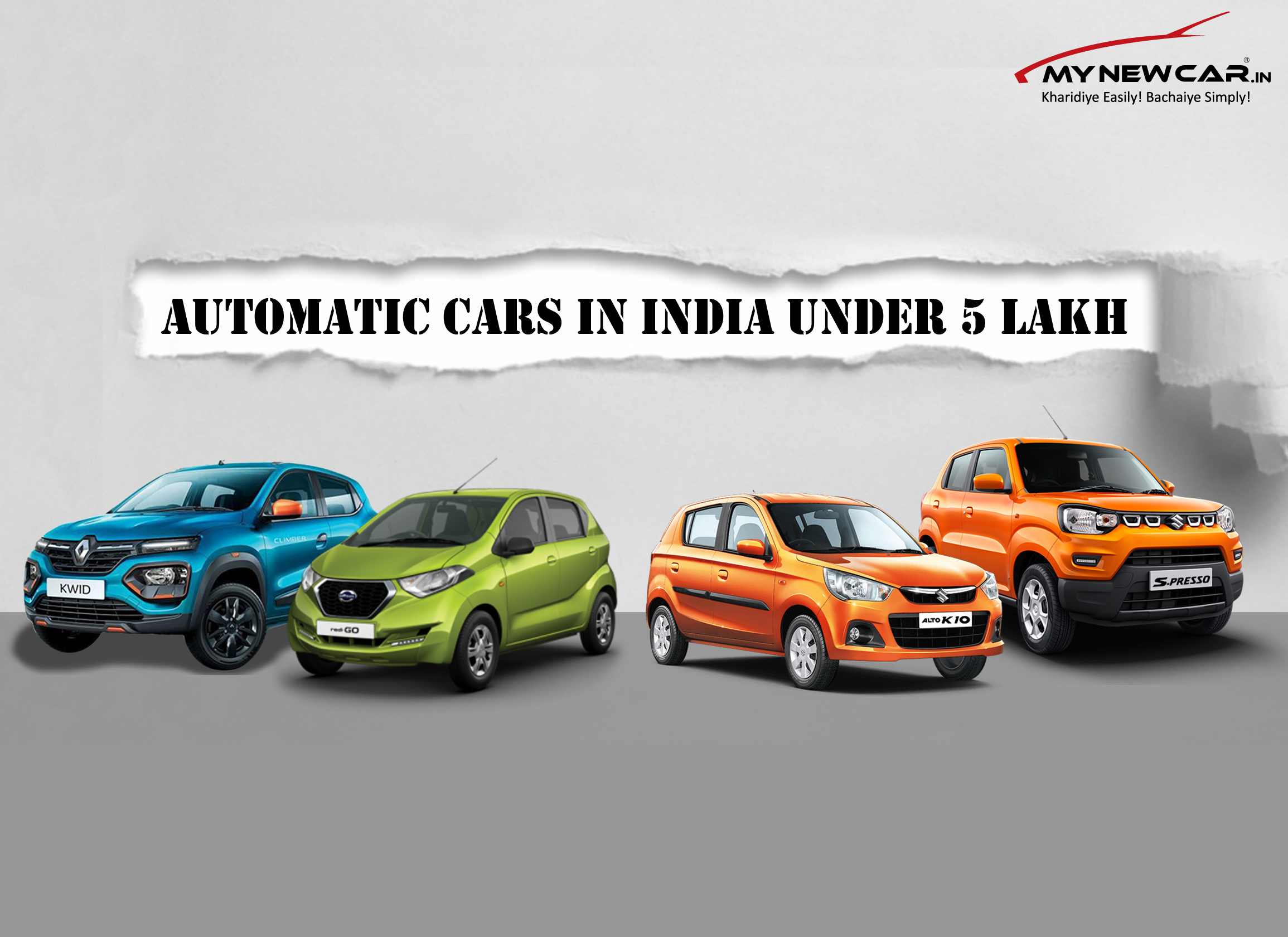 List of Automatic Cars in India under 5 lakhs