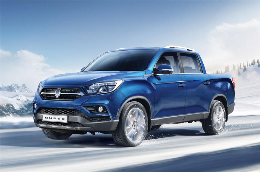 Ssangyong New Musso - pick up truck, unveiled at the 2018 Geneva Motor Show