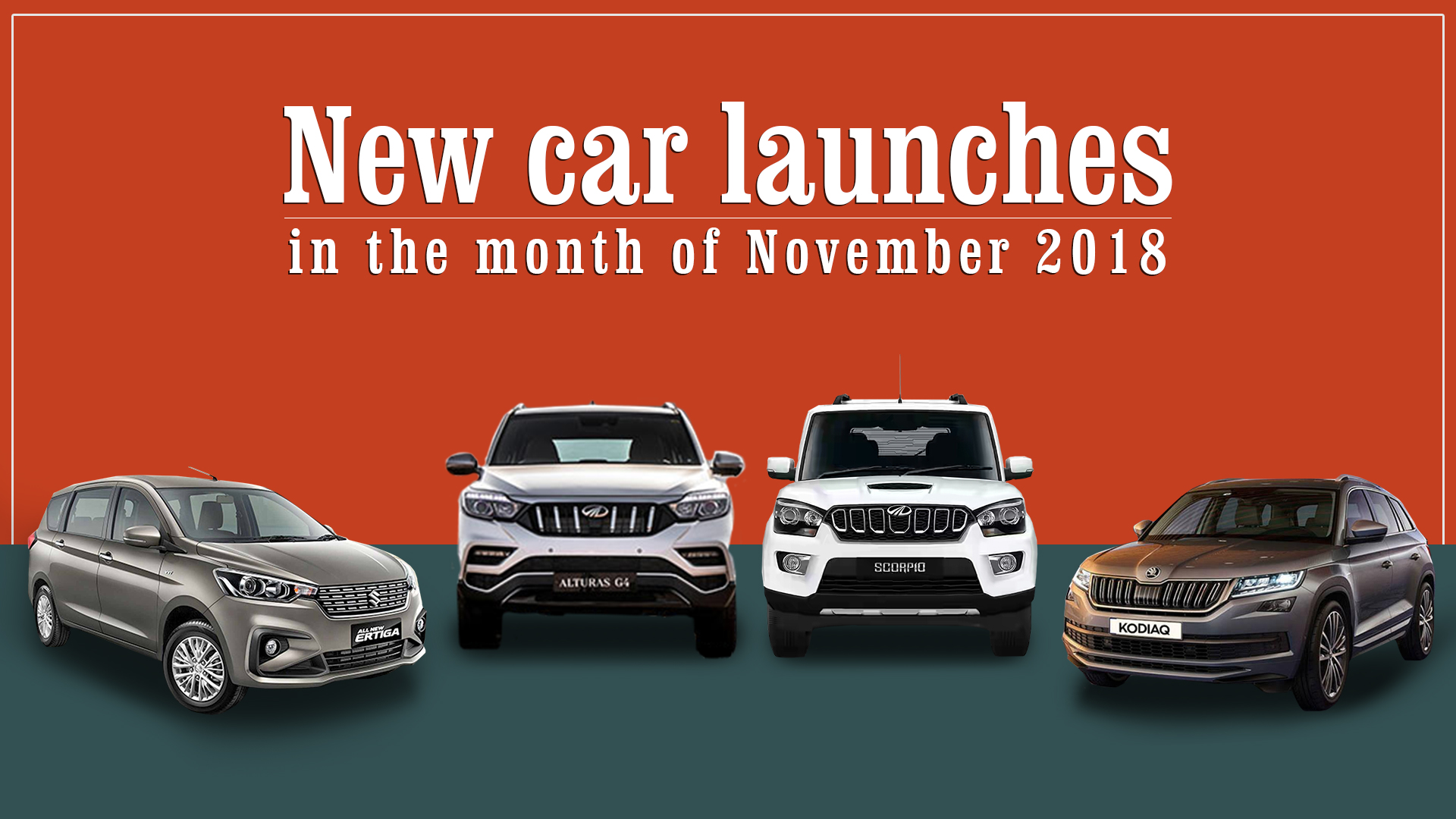 New Car Launches by Mahindra, Maruti Suzuki and Skoda in November-18