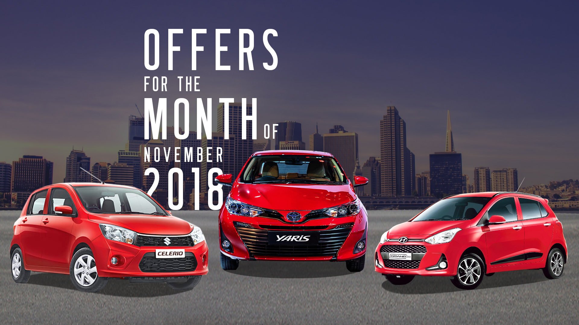Mynewcar Exclusive - Hot Deal Offers for the Month of November 2018