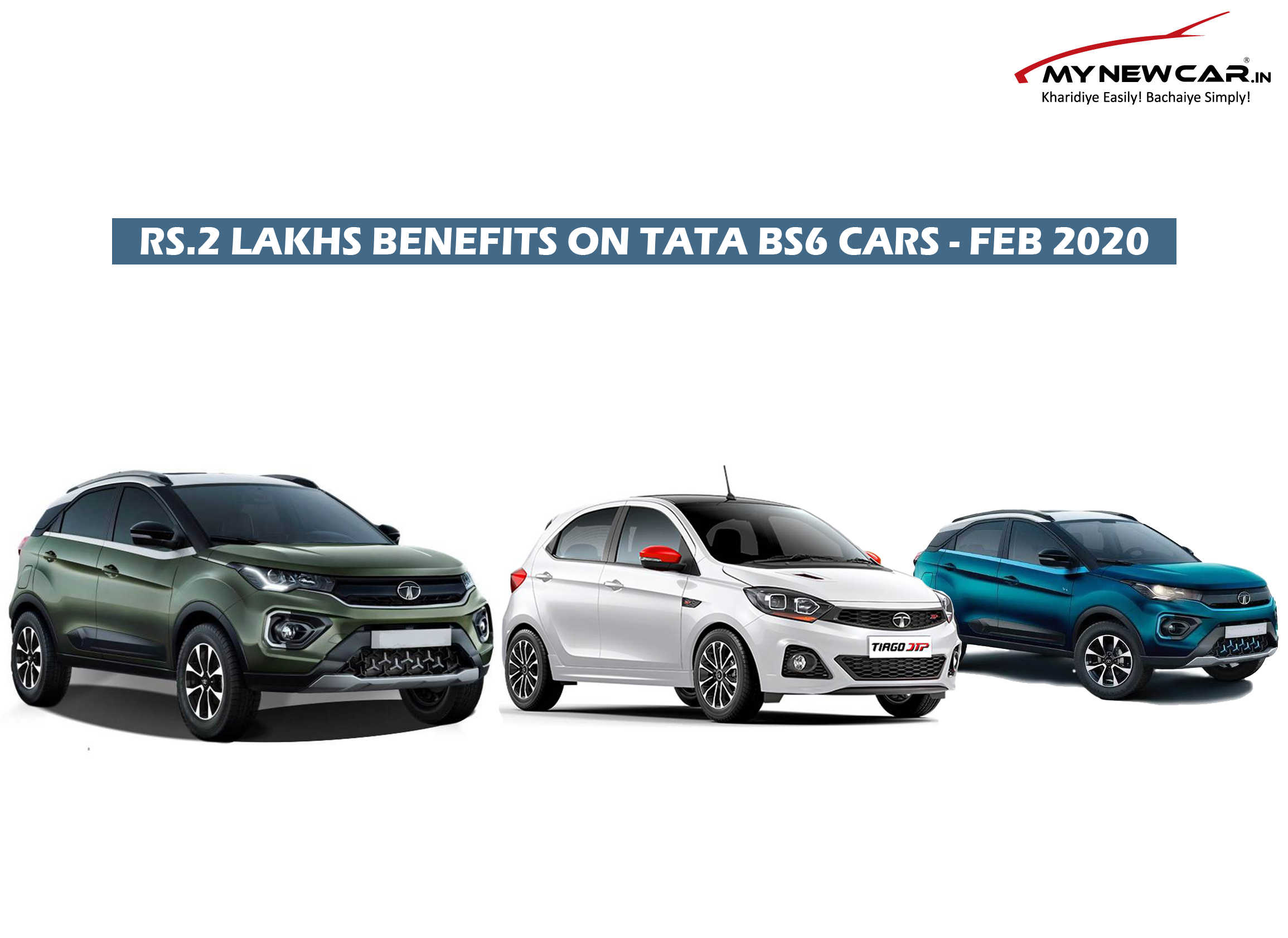 Rs.2 Lakhs Benefits on Tata BS6 Cars - Feb 2020