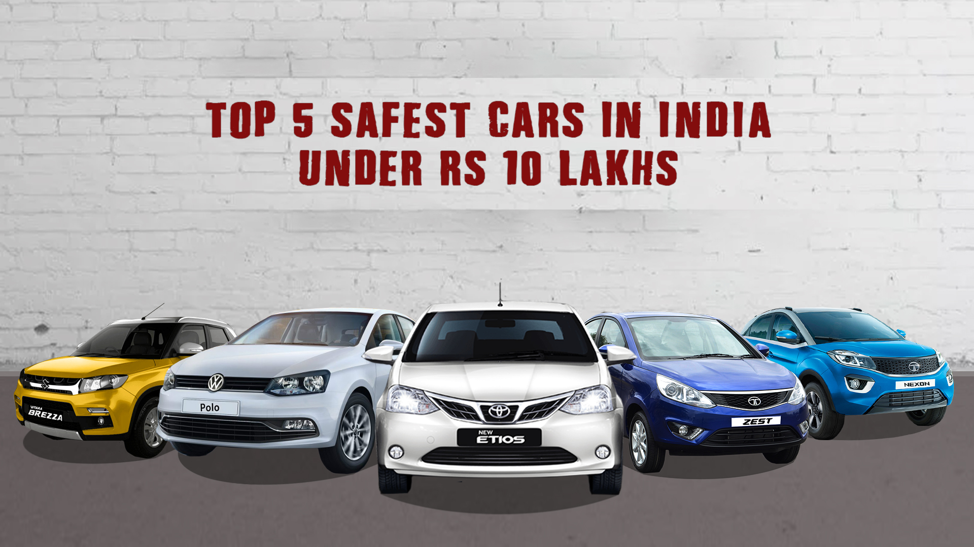 Top 5 Safest Cars Under Rs 10 Lakhs In India