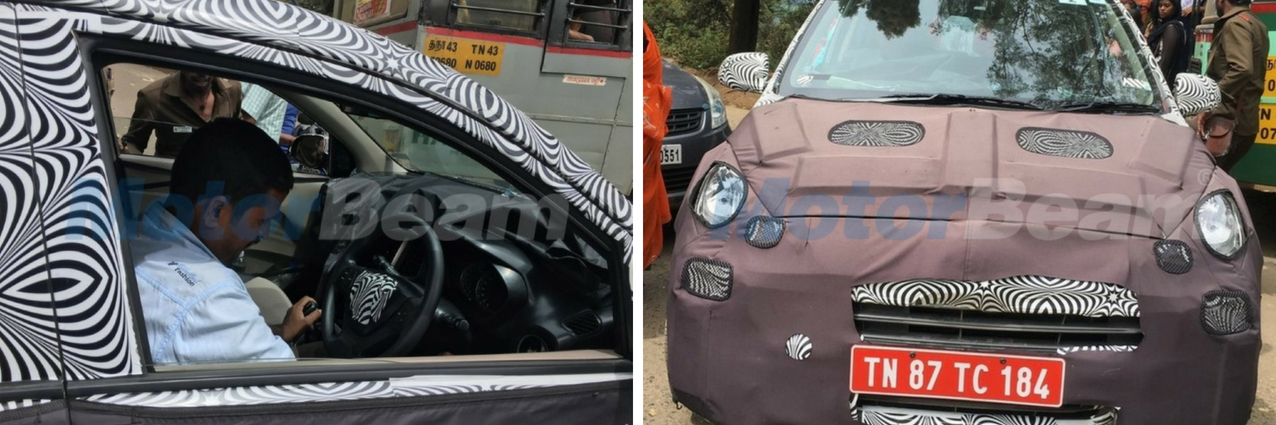 Upcoming Hyundai Santro spotted testing