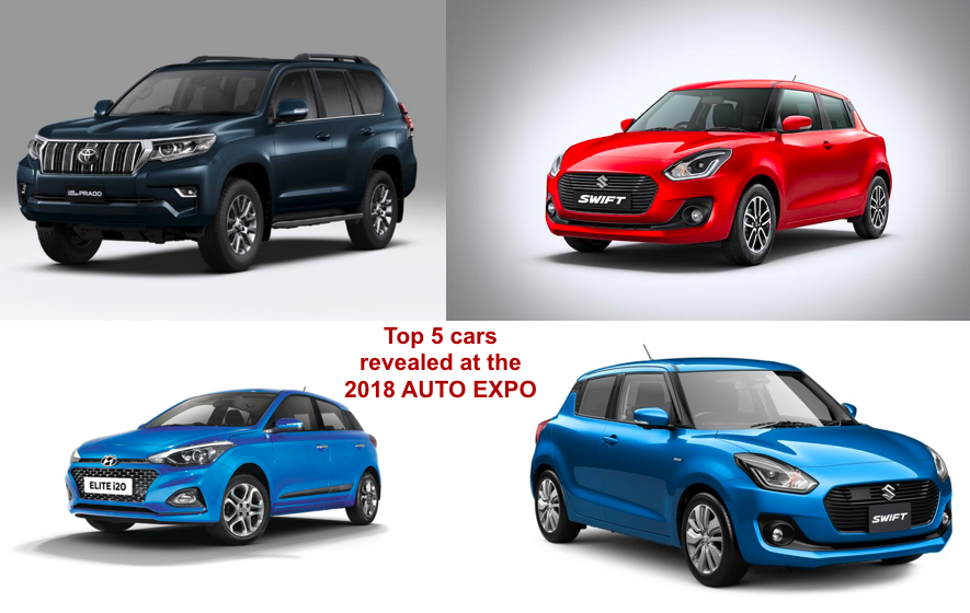 Top 5 Cars Revealed At The 2018 AUTO EXPO