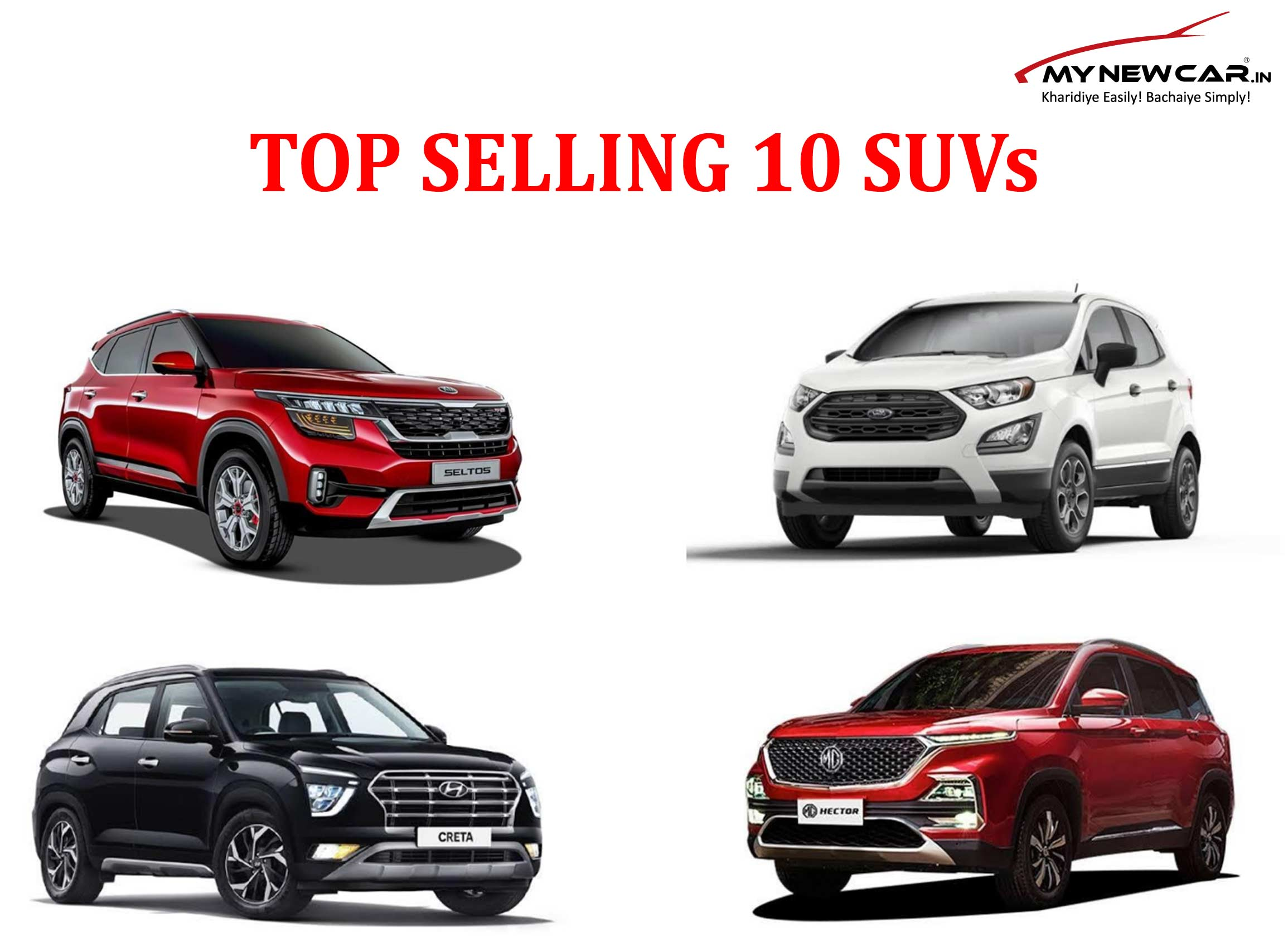 List of Best 10 Selling SUVs in India