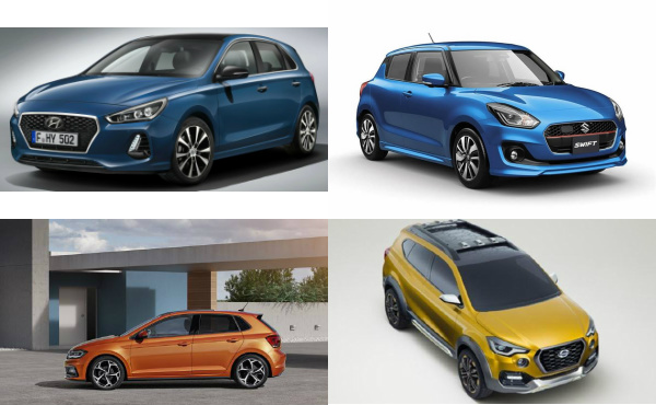 Upcoming hatchback cars in India 2018
