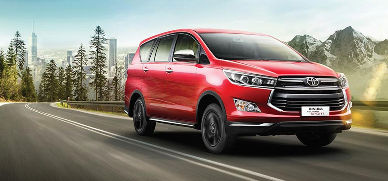 Toyota Innova Touring Sport 2.4 offered with a manual transmission