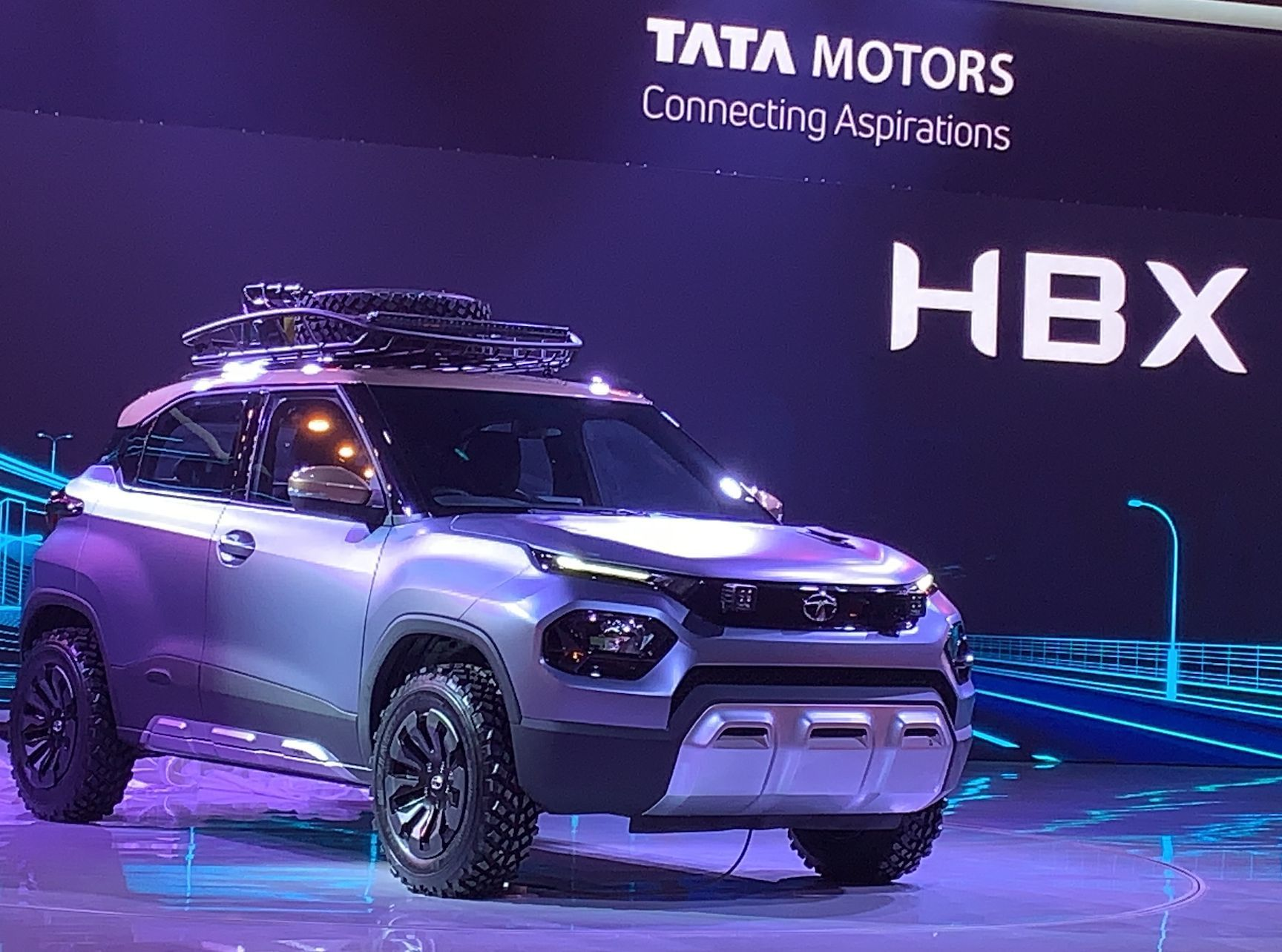 TATA HBX : Near Production Ready Model Displayed At Auto Expo 2020