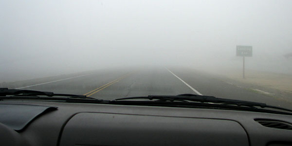 Safe driving tips in fog like conditions