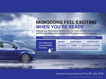 Maruti Suzuki starts Monsoon Service Camp across their dealerships